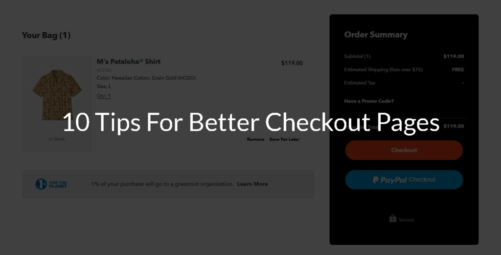 Ten Tips for Better Checkout Pages