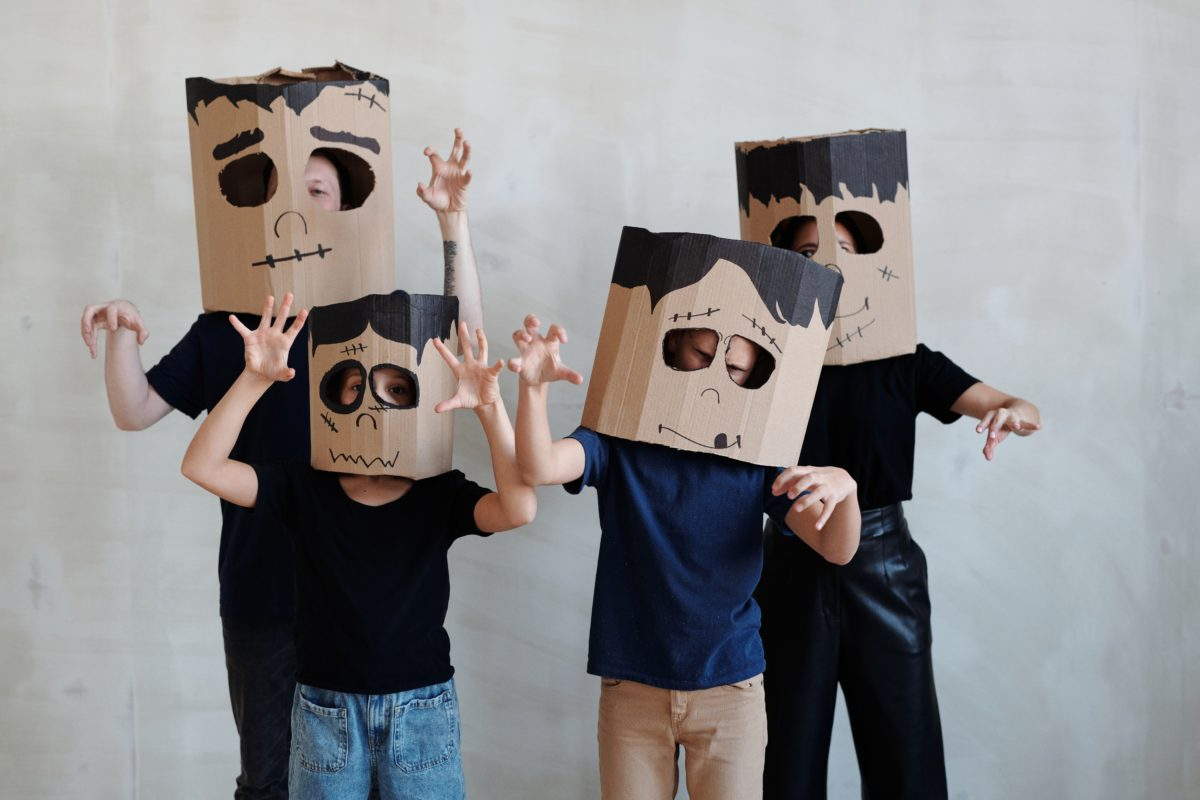 Kids in monster masks