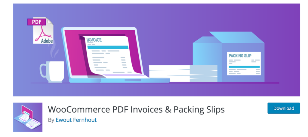 PDF Invoices and Packing Slips for WooCommerce is an essential  extension.