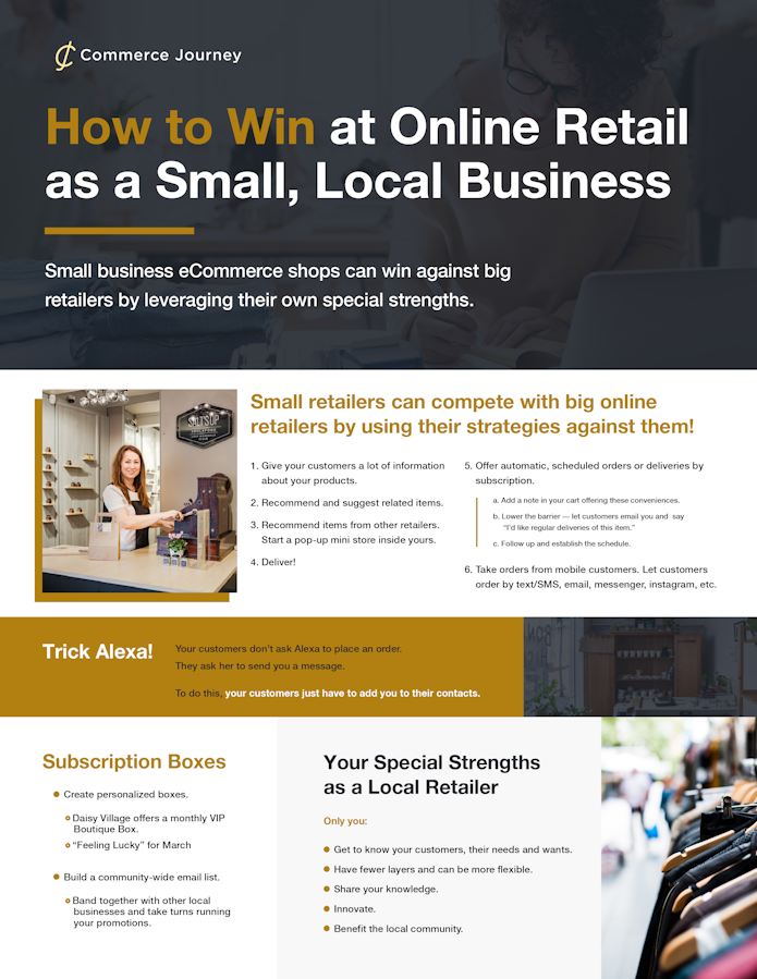 Infographic: How to Win at Online Retail as a Small Local Business
